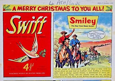 SWIFT - CHRISTMAS ISSUE !! 27th DECEMBER 1958 - RARE & COLLECTABLE !! VGC..eagle