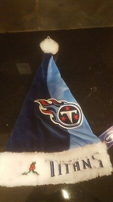 d585783dbb33e TENNESSEE TITANS CHRISTMAS Santa Hat By Forever Collectibles NWT ...