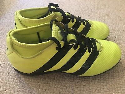 reputable site b5e54 52bae Adidas Ace Primemesh 16.3 boys astro football boots in yellow - size 3 -  boxed