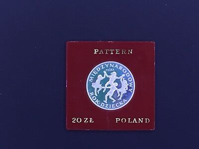 Poland 20 Zlotych, 1979 PROBA  Proof, International Year of the Child Silver