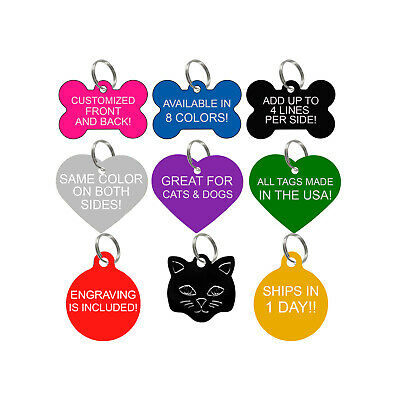 Custom Engraved Pet Id Tags for Dogs & Cats Personalized for Your Pet