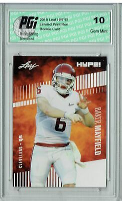 Baker Mayfield 2018 Leaf HYPE! #3 Only 5000 Made Rookie Card PGI 10