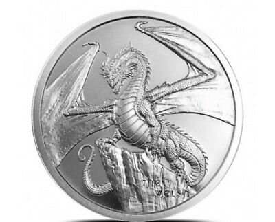 THE WELSH DRAGON 1 oz Silver Round Coin | Game Of Thrones Dragon? - #2 of 6