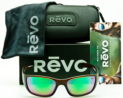98e84a20584 NEW REVO HEADING RE4058 02GN Matte Brown Green Water Polarized 59mm USA MADE