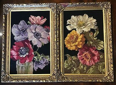 """A Pair Of 16"""" X 11.25"""" Tapestry Panels In Ornate Frames"""