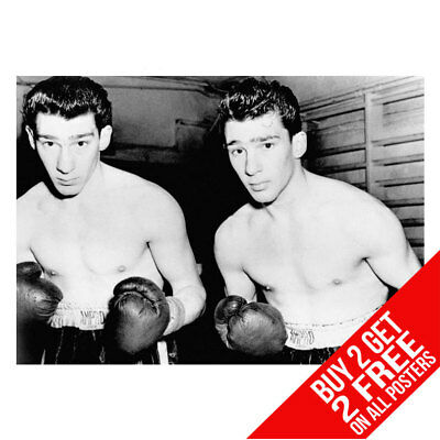 The Krays Boxing Gansters Twins Poster Art Print A4 A3 -Buy 2 Get Any 2 Free