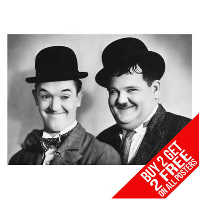 Laurel And Hardy Poster Art Print A4 A3 -Buy 2 Get Any 2 Free