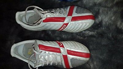 e78244a7545 UMBRO EXO Skeleton Silver white red Lace Up Football Boots Uk 4 Eu ...