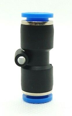 EQUAL STRAIGHT PUSH IN FITTING CONNECTOR pneumatic air fittings 8 mm. To 8 mm.