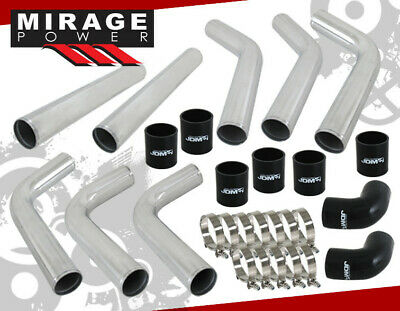 "2.5"" D.I.Y Aluminum Turbo Supercharge Intercooler Piping Pipe Upgrade Kit Ch/Blk"