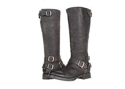 2950151a3779 Frye Veronica Back Zip size 5.5 Black Stone Antique Tall Leather Boots  368