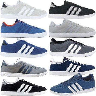 new concept 00adb 34a34 Adidas Vl Court Low Leather Mens Sneakers Shoes Casual Trainers Retro Skate