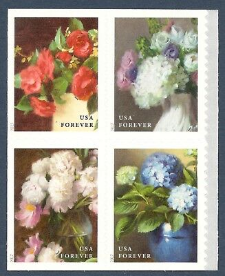 5237-40 Flowers From The Garden Forever Block Mint/nh Free Shipping