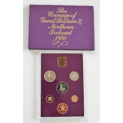 Coinage of Great Britain and Northern Ireland 1980 Proof Set - Good Condition!