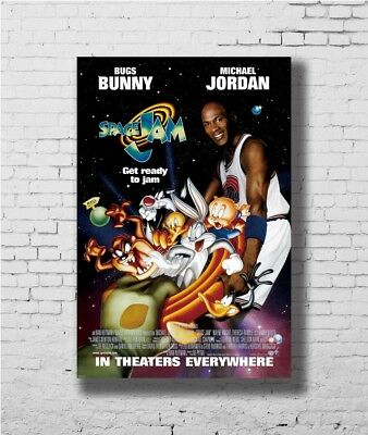Hot Gift Poster SPACE JAM MOVIE Sided ORIGINAL Rolled Ver MICHAEL JORDA 40 F-917