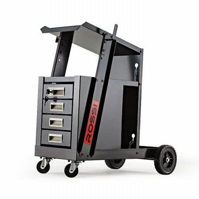 NEW Deluxe ROSSI Welding Cart Trolley with 4 Spacious Drawers, 15cm Rear Wheels