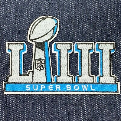 10 Ct Lot Of Nfl Super Bowl Liii 53 2019 Jersey Patch Iron On Patriots Vs Rams