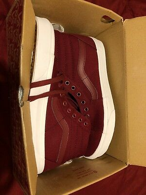 c1bf69622751 VANS SK8-HI Mono Canvas CABERNET MENS SIZE 9 SKATE SHOES. New In Box