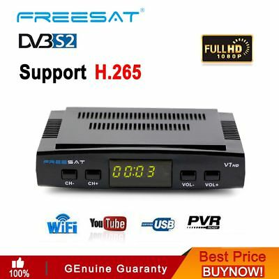 Receptor Satelital GTMedia FTA V7 HD FREESAT FULL HD 1080P DVB-S2 With USB wifi