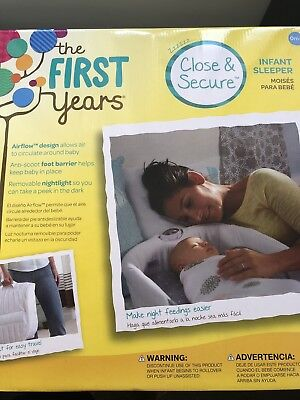 Infant sleeper. Close and secure. Box opened but never used due to size