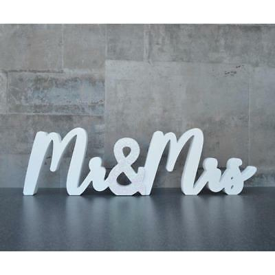 Colstrip Letter Block Simple And Classy Wedding Occasion White Wood New
