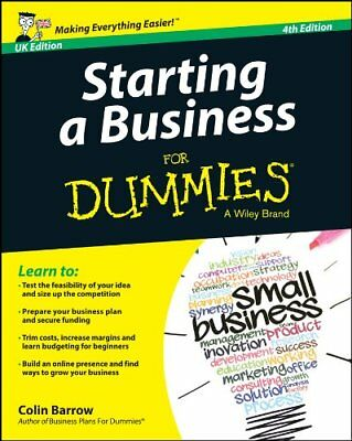 Starting a Business For Dummies - UK by Colin Barrow New Paperback Book