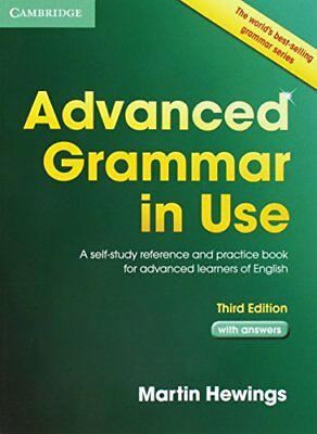 Advanced Grammar in Use with Answers: A Sel by Martin Hewings New Paperback Book