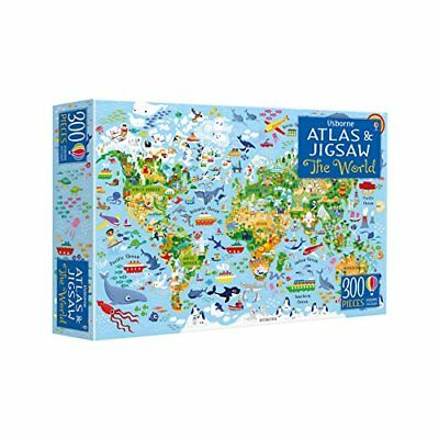 The World (Usborne Atlas and Jigsaw) by Sam Smith New Paperback Book