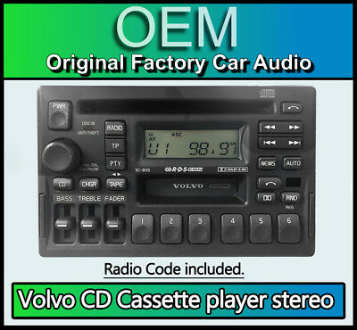 VOLVO V70 CD Cassette player, Volvo SC-805 CD tape car stereo with radio  code