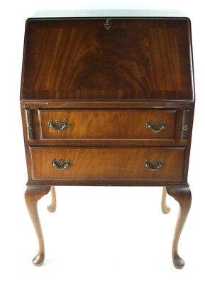 Vintage Flamed Mahogany Bureau Writing Desk - FREE Shipping [PL4892]