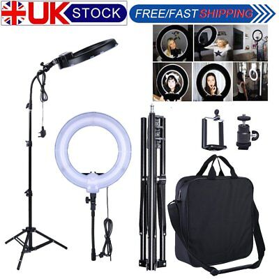"""14"""" 300W 5500K LED Ring Light Flashes Kit+ Light Stand for Photo Video Camera WM"""