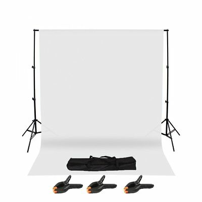 Photography Studio Background Support Stand & White Screen Backdrop Kit & Bag WM