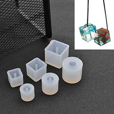 6Pcs Round Square Bead Silicone Mold DIY Pendant Mold For Jewelry Making Craft