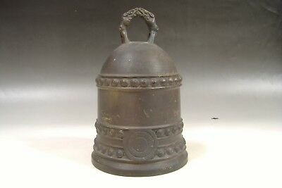 Japanese Vintage Kane Bell Bonsho Copper Buddhism Temple Height 20cm 1,927g