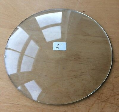 """Vintage Grandfather / Mantle Clock Convex Replacement Glass 6"""" 152.4mm"""