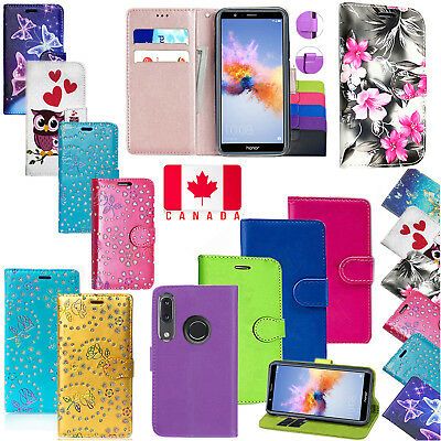 For Huawei P20 Lite Magnetic PU Leather Wallet Flip KickStand Case Cover