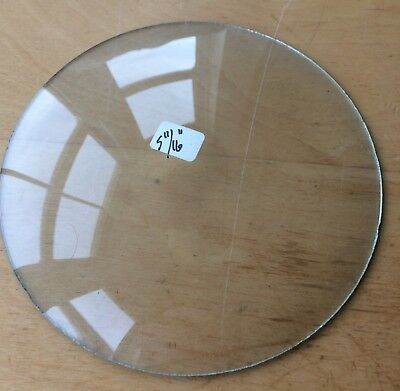 """Vintage Grandfather / Mantle Clock Convex Replacement Glass 5 11/16"""" 144.5mm"""