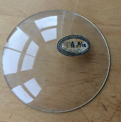 """Vintage Grandfather / Mantle Clock Convex Replacement Glass 4  5/16"""" 109.5mm"""