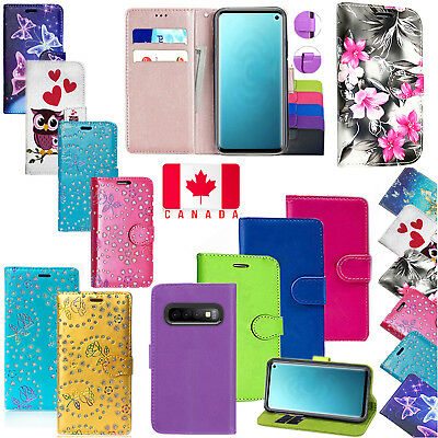 For Samsung Galaxy S10 Plus Shockproof PU Leather Wallet Flip Stand Case Cover