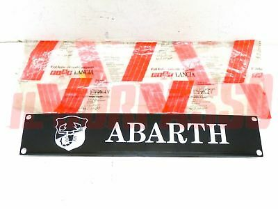 Plaque Abarth Autobianchi A112 Arriere