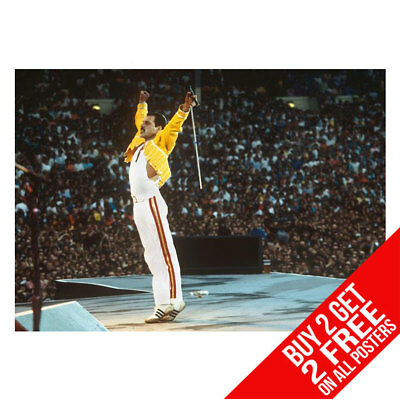 Freddie Mercury Queen Poster Art Print A4 A3 - Buy 2 Get Any 2 Free