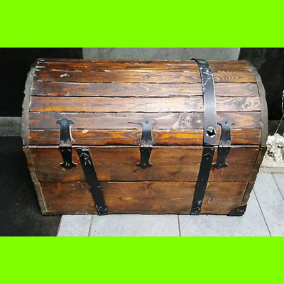 TRUNK VINTAGE REAL WOOD YEARS 30 the post-war period - 70x45x44