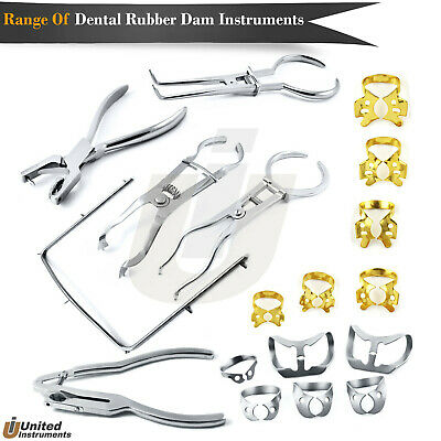 Root Canal Rubber Dam Clamp Forceps Set Restoration Brinker Clamps Ivory Light