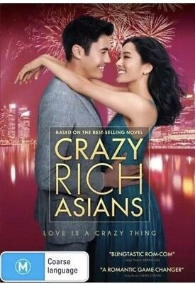 Crazy Rich Asians DVD R4 New & Sealed 2018