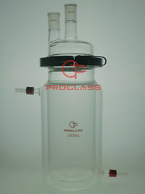 Proglass Separate Jacket Reactor 2000mL 2 Necks with Easy Open PTFE Clamp,24/40