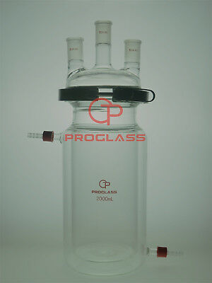 Proglass Separate Jacket Reactor 2000mL 3 Necks with Easy Open PTFE Clamp,24/40