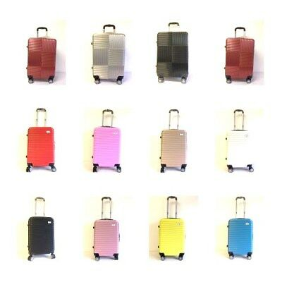 Hard Shell Hand Luggage Suitcase bag Cabin Approved 8 wheeled case Ryanair Jet2.