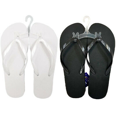 889503731 Wholesale Bulk Lot 48 Women Ladies Slim Beach Flip Flops Black White Sizes  S-XL