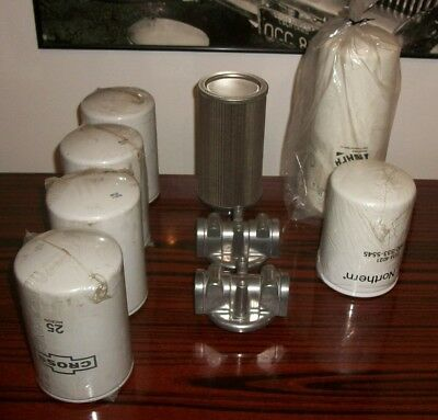 Hydraulic Filters, Heads, Suction Strainer Lot. Parker, Cross, LDI, Northern, +