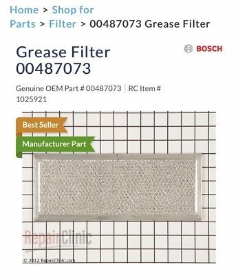 487073 Bosch Grease Filter